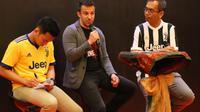 Del Piero bersama cawagub Sumut, Sihar Sitorus dalam acara meet n greet (Liputan6.com/Reza Perdana)