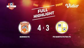 Laga lanjutan Shopee Liga 1, Borneo FC VS PS Barito Putra FC berakhir  4-3 #shopeeliga1 #Borneo FC #PS Barito Putra FC
