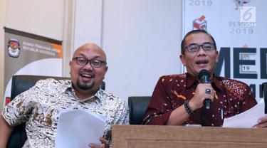 Ketua KPU Sampaikan Hasil LPSDK Parpol Peserta Pemilu 2019