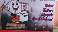 Komisi Pemilihan Umum (KPU) Kabupaten Gunungkidul meluncurkan maskot dan jingle (lagu tema) untuk Pilkada Serentak 2020. (Liputan6.com/ Hendro Ary Wibowo)