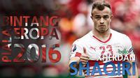 5 aksi terbaik Xherdan Shaqiri gelandang bersama Stoke City musim lalu. Ia cetak assist untuk Swiss di laga perdana Piala Eropa 2016.