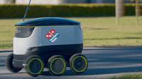 Domino's Antarkan Pizza Pakai Self-Driving Robot