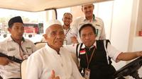 Seorang haji bernama Sudarsono sempat kehilangan paspornya sebelum kembali ke Tanah Air. (www.haji.kemenag.go.id)