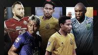 Marko Simic, Andik Vermansah, Zah Rahan, Evan Dimas dan Kushedya Hari Yudo. (Bola.com/Dody Iryawan)