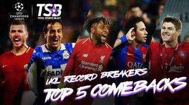 Berita video comeback yang terbaik dan mungkin paling dikenang sepanjang perhelatan Liga Champions.