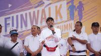 Menteri Rini Soemarno dalam acara Fun Walk HUT ke-21 BUMN di Bandung. Dok: Kementerian BUMN