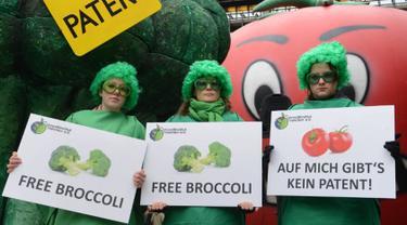Brokoli kaya akan kandungan antioksidan. Selain itu brokoli juga tinggi kandungan enzim yang membantu memperlancar sistem pencernaan. Brokoli mentah lebih disarankan untuk dikonsumsi karena tinggi tingkat nutrisi di dalamnya. (AFP PHOTO / CHRISTOF STACHE)
