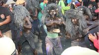 Tradisi Keboan Minta Panen Berlimpah di Desa Aliyan Banyuwangi. (Liputan6.com/Dian Kurniawan)