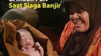 Bayi melahirkan di mobil PLN saat penanganan kelistrikan pasca banjir (dok: PLN DIsjaya)