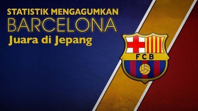 Video motion graphic yang menerangkan statistik klub Barcelona seusai juara Piala Dunia Antarklub 2015, pada Minggu (20/12/2015) malam WIB.