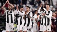 Juventus meraih hasil 1-1 kontra Torino dalam laga lanjutan Serie A 2018-19 giornata 35 di Allianz Stadium, Sabtu (4/5/2019) dini hari WIB. (AFP/Marco Bertorello)