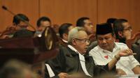 Sidang Perselisihan Hasil Pemilihan Umum Presiden dan Wakil Presiden 2014 (PHPU Pilpres) itu dihadiri pasangan Prabowo-Hatta, Jakarta, Rabu (6/8/14). (Liputan6.com/Johan Tallo)