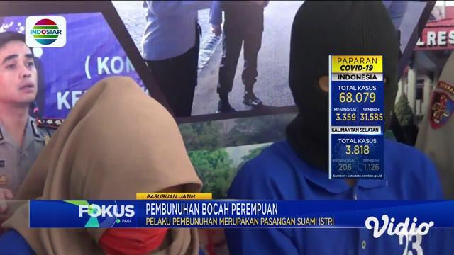 Pelaku pembunuhan terhadap seorang balita di Pasuruan adalah pasangan suami istri yang masih tetangga korban, karena ingin menguasai perhiasan yang dikenakan korban. Polisi menjerat dua pelaku dengan pasal berlapis dengan ancaman maksimal hukuman mat...