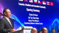 Ketua Dewan Perwakilan Rakyat (DPR) RI Bambang Soesatyo menghadiri Sidang Umum ke-39 ASEAN Inter-Parliamentary Assembly (AIPA) di Singapura, Selasa (4/9/2018). (Istimewa)