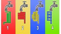 Gambar Keran Air yang Menurut Kamu Mengalir Lebih Cepat Dapat Ungkap Kecerdasanmu (Sumber: Buzzquiz)