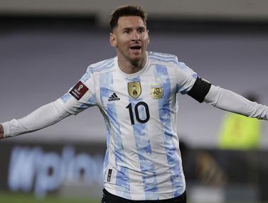 Foto: Lionel Messi Cetak Hattrick, Argentina Kalahkan Bolivia di Kualifikasi Piala Dunia 2022 Zona Amerika Latin