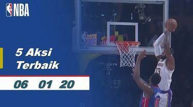 Berita Video 5 aksi pemain terbaik NBA 6 Januari 2020
