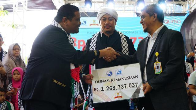 Donasi yang terkumpul lewat konser kemanusiaan ini mencapai Rp 1,3 Miliar.
