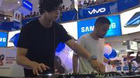 Al Ghazali meriahkan roadshow Vivo V7+ Perfect Moment Tour di Jakarta. Liputan6.com/Jeko Iqbal Reza