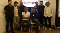 Penyelenggara ajang Soundrenaline 2018 usai jumpa pers di kawasan Senopati, Jakarta Selatan