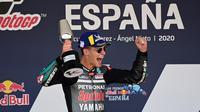 7. Fabio Quartararo (Petronas Yamaha SRT) -  US$1.5 juta atau Rp21,8 miliar per tahun. (AFP/Javier Soriano)