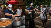 Ustaz Ebit Lew berikan 300 makanan pada tunawisma untuk buka puasa. (Facebook/Ebit Lew)