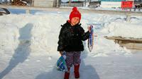 Saglana Salchak, sang bocah pemberani (Yury Darbaa/Siberian Times)