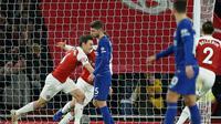 Arsenal meraih kemenangan 2-0 atas Chelsea pada laga pekan ke-23 Premier League, di Stadion Emirates, Sabtu (19/1/2019). (AFP/Ian Kington)