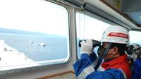 Menteri BUMN, Erick Tohir di atas kapal PERTAMINA PRIDE (dok: KBUMN)