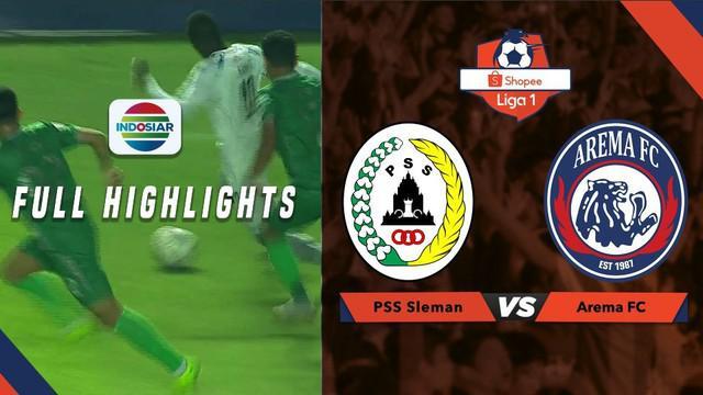 Full highlight pertandingan Shopee Liga 1 antara PSS Sleman melawan Arema Malang, dengan skor akhir 3-1 untuk PSS Sleman.