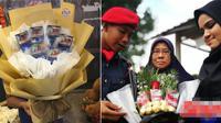 Nornajiha Mohd Tarmizi saat memberikan buket rokok untuk kekasihnya (worldofbuzz.com)