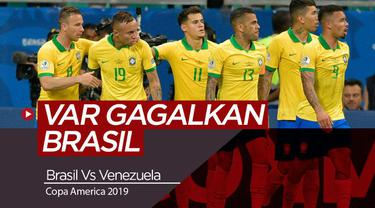 Berita Video Highlights Copa America, VAR Gagalkan Dua Gol Brasil ke Gawang Venezuela