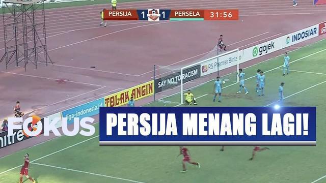 Kemenangan 4-3 atas Persela menempatkan Persija di posisi ke-12 dengan nilai 34.