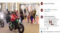 Lihat Gaya Jokowi dan Sang Anak Motoran (Instagram @jokowi)