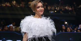 Maia Estianty Juri Indonesian Idol X di Studio RCTI Kebon Jeruk, Jakarta Barat (2/3/2020).