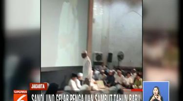 Sandiaga Uno gelar pengajian sambut tahun baru di Masjid At-Taqwa, Kebayoran Baru.