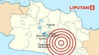 Banner Infografis Gempa Bandung dan Pergerakan Sesar. (Liputan6.com/Abdillah)
