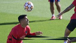 klub di Majadahonda (27/9/2021). Atletico Madrid akan bertanding melawan AC Milan pada grup B Liga Champions di San Siro. (AFP/Javier Soriano)