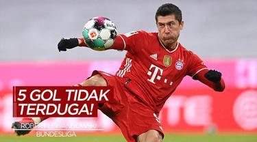 Berita Video 5 Gol Tak Terduga di Bundesliga Pekan 21, Cek Torehan Robert Lewandowski