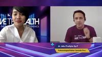 Dokter spesialis paru (pulmonologist), dr Jaka Pradipta SpP saat mengisi materi soal COVID-19 di Indonesia di Webinar #WeTheHealth Jovee Track pada Sabtu, 27 Juni 2020.