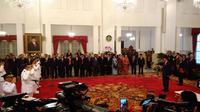 Presiden Jokowi melantik gubernur dan wakil gubernur terpilih (Liputan6.com/ Ahmad Romadoni)