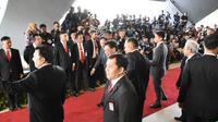 Suasana pelantikan Presiden RI Joko Widodo dan Wapres RI Ma'ruf Amin Masa Jabatan 2019-2024 yang digelar dalam Sidang Paripurna MPR, di Gedung Nusantara, Kompleks Parlemen, Jakarta