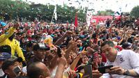 Ketum Partai Perindo Hary Tanoe menghadiri acara kamoanye akbar di Banyuwangi, Jatim. (Isitimewa)
