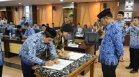 Penandatanganan MoU antara Ditjen PSP dan BNI ini disaksikan Menteri Pertanian Syahrul Yasin Limpo (SYL) di Gedung Kementan, Jakarta, Jumat (29/11).