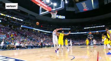 Nikola Jokic turun 26 poin dan naik tujuh rebound saat Nuggets mengalahkan Pacers, 102-100.