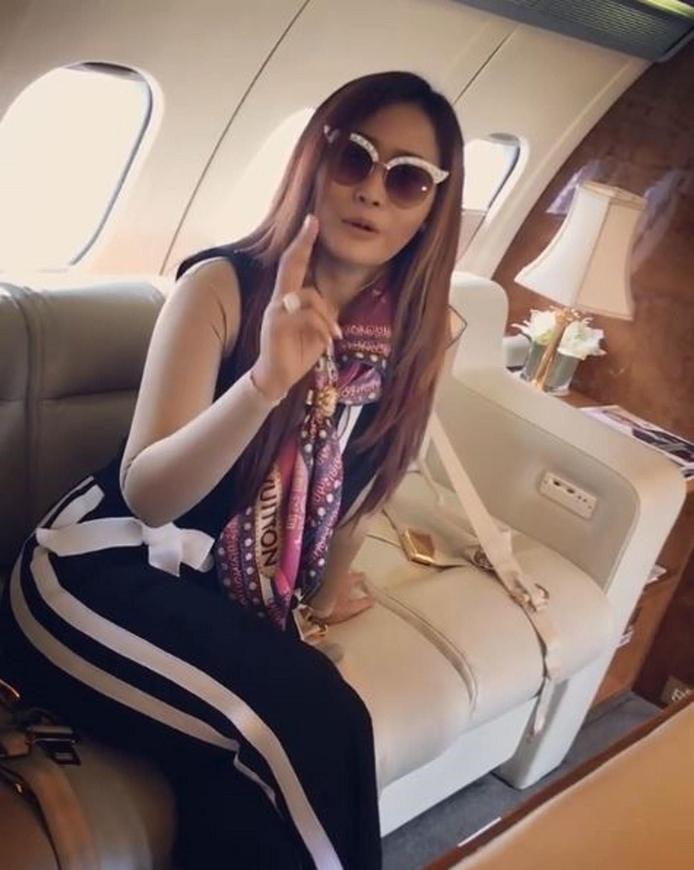 Inul Daratista saat berada dalam pesawat pribadi  (Instagram/@inul.D)