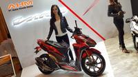 Modifikasi Honda Vario 150 dengan konsep Exclusive Sporty dipamerkan saat peluncuran all new Vario 150 dan 125 di Hotel Holiday Inn Kemayoran, Jakarta, Senin (16/4/2018)