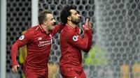 Liverpool meraih kemenangan dua gol tanpa balas atas Watford pada laga pekan ke-13 Premier League, di Vicarage Road, Sabtu (24/11/2018). (AFP/OLLY GREENWOOD)