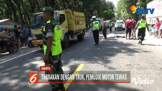 Menurut saksi mata, korban berusaha mendahului truk tronton.