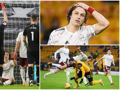 Insiden kartu merah yang didapatkan David Luiz saat laga Wolverhampton Wanderers vs Arsenal menjadi buah bibir lantaran dianggap kontroversial. Berikut reaksi bek asal Brasil ini ketika mendapat kartu merah dari wasit.